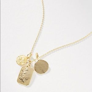 Anthropologie Coin Charm Necklace